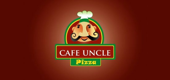 Restaurant-Logos-cafe-uncle-pizza