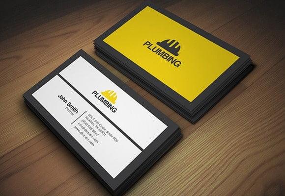 Plumbing Business Card Design Ideas
