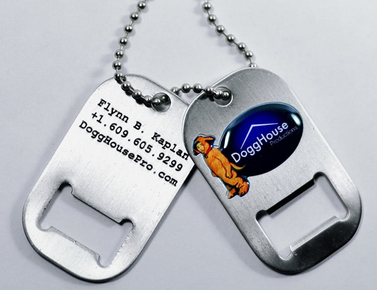 dogghouse-productions-dog-tag-bottle-opener-business-card-for-flynn-b-kaplan