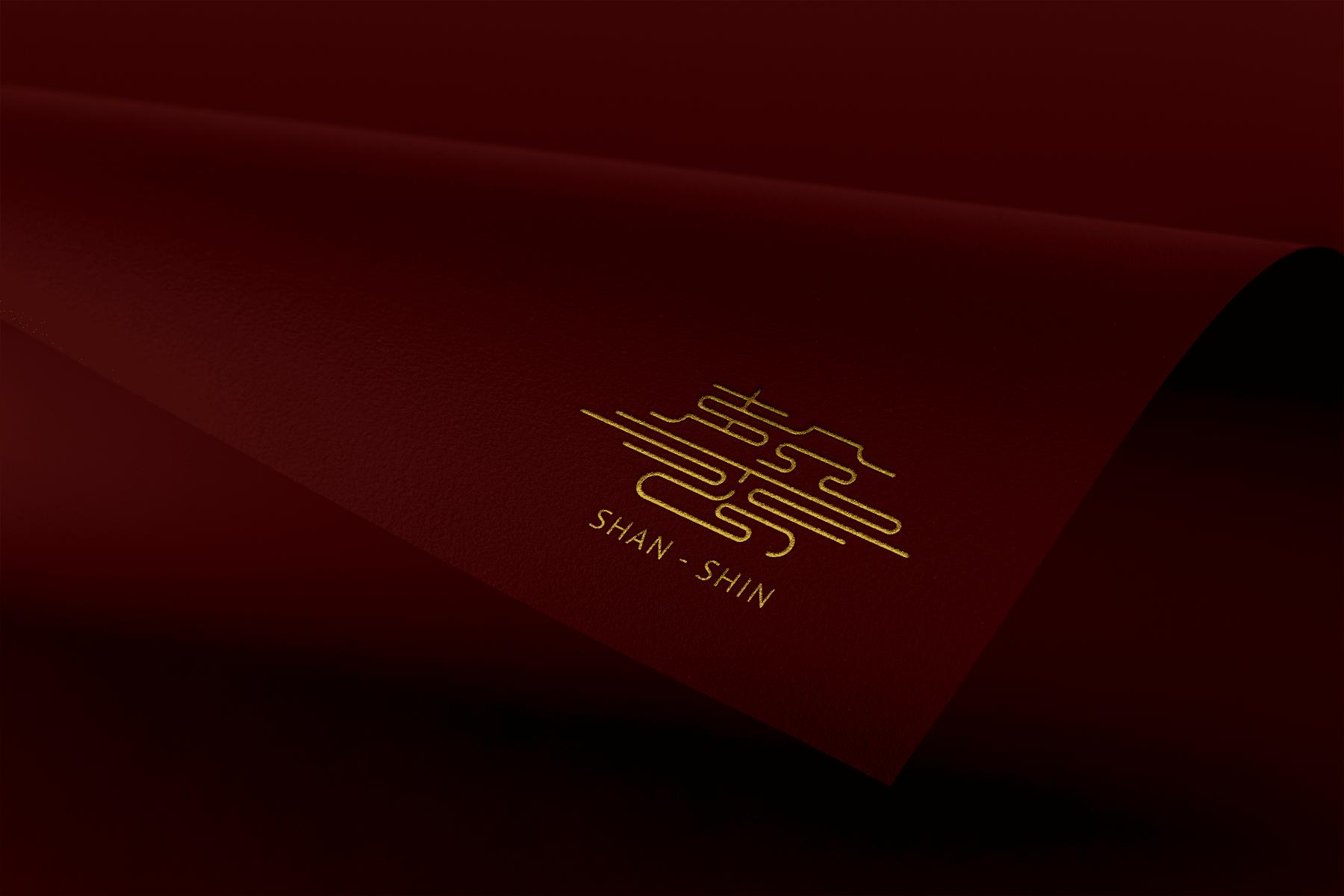 膳馨logo設計,獨一無二的中國風品牌字體,傳達香氣繚繞的意象。